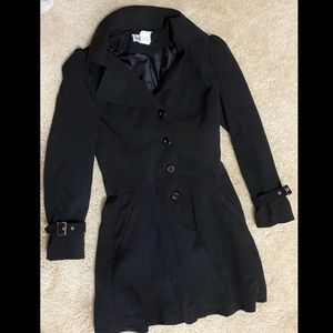 Jackets & Blazers - Black Bustle Corset Trench Coat Size Small